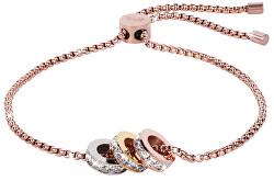Das Armband mit Tricolor glitzernden Perlen