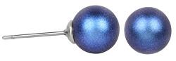 Náušnice Pearl Iridescent Dark Blue