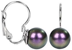 Náušnice s klapkou Pearl Iridescent Purple