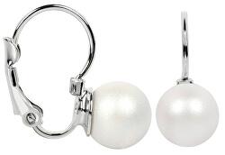 Náušnice s klapkou Pearl Pearlescent White