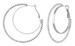 Ocelové kruhové náušnice