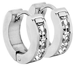 Ocelové náušnice kroužky s krystaly