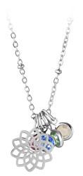 Ocelový náhrdelník s vyměnitelnými přívěsky (řetízek, 5x přívěsek)