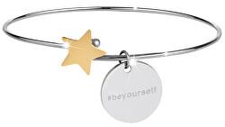Ocelový náramek s hvězdičkou stříbrný/zlatý