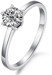 Ocelový prsten s krystalem KRS-126