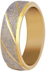 Ocelový snubní prsten bicolor/třpytivý