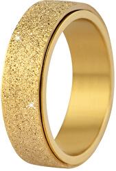 Inel de nuntă din oțel auriu / strălucitor