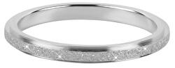 Ocelový třpytivý prsten KR-01 Silver
