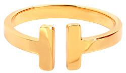 Otevřený pozlacený prsten z oceli
