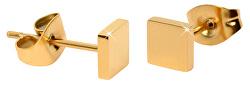 Pozlátené štvorcové náušnice z ocele