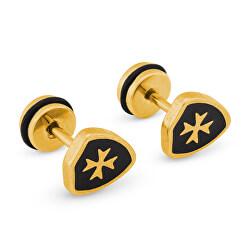 Cercei din oțel placați cu aur KS-149