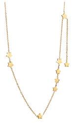 Pozlátený hviezdičkový náhrdelník z ocele