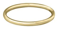 Pozlacený minimalistický prsten z oceli Gold