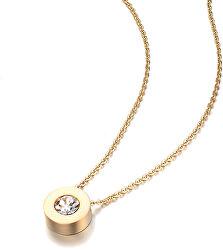 Pozlátený náhrdelník s trblietavým príveskom