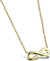 Pozlacený ocelový náhrdelník Nekonečno KNS-271