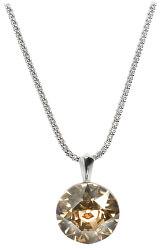 Strieborný náhrdelník Dentelle 13 mm Crystal Golden Shadow (retiazka, prívesok)