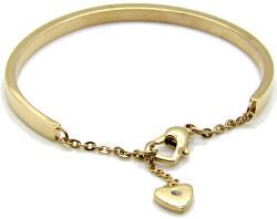 Romantický pozlacený náramek se srdcem KBS-151-GOLD