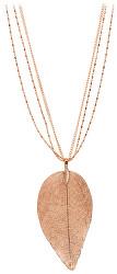 Růžově pozlacený náhrdelník s vavřínovým listem I. Laurel