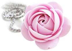 Ružový náhrdelník kytička