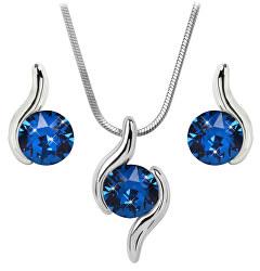 Sada náhrdelníku a náušnic Chaton Wave Capri Blue