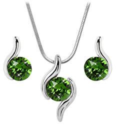 Sada náhrdelníku a náušnic Chaton Wave Fern Green