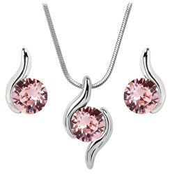 Sada náhrdelníku a náušnic Chaton Wave Light Rose