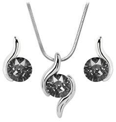 Sada náhrdelníku a náušnic Chaton Wave Silver Night