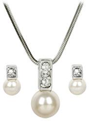 Sada náhrdelníku a náušnic Pearl Caorle Cream