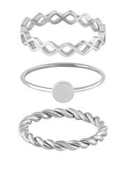 Sada tří ocelových prstenů