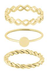 Sada tří pozlacených prstenů