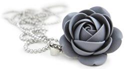 Šedý náhrdelník kytička