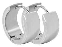 Široké krúžkové náušnice z ocele