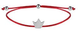 Lanyard Armband Rot / Stahl Krone