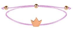 Schnur Armband Krone Rosa/Bronze