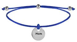 Šnúrkový náramok Mamička modrá / oceľová