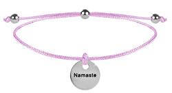 Schnur-Armband  Namaste Rosa/Stahl