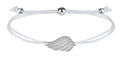 Šňůrkový náramek s andělským křídlem bílá/ocelová
