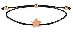 Šňůrkový náramek s hvězdičkou černá/bronzová