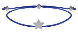 Šňůrkový náramek s hvězdičkou modrá/ocelová