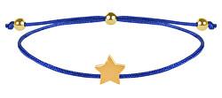 Šňůrkový náramek s hvězdičkou modrá/zlatá