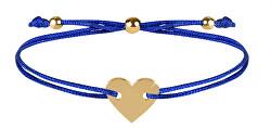 Zsinór karkötő szívvel kék / arany