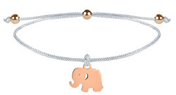 Elefantenarmband Elefant weiß / bronze