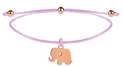 Elefantenarmband Elefantenrosa / Bronze
