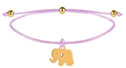 Lanyard Armband Elefantrosa / Gold