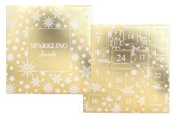 Šperkový adventní kalendář - zlatý - SLEVA
