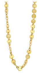 Štýlový peniažkový náhrdelník z pozlátenej ocele