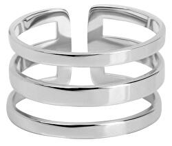 Stylový trojitý prsten z oceli