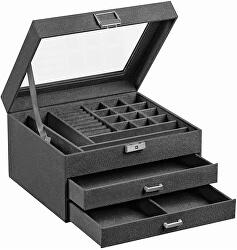 Tmavo šedá šperkovnica JBC158G01