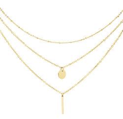Trojitý pozlátený náhrdelník