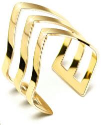 Trojitý pozlacený prsten z oceli